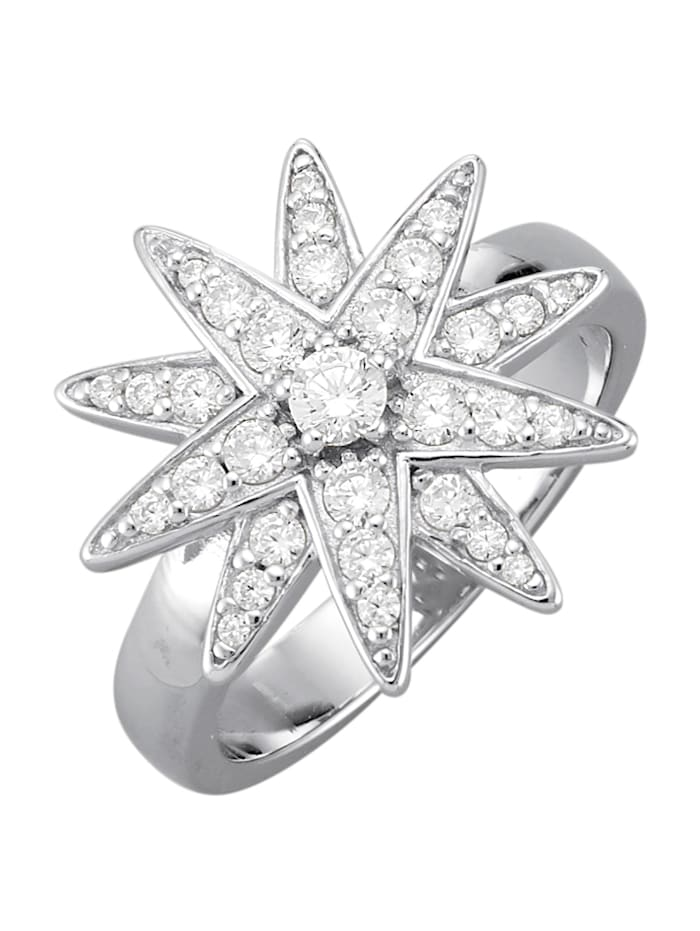 Atelier Imperial Sisi Ring med cubic zirconia, Silverfärgad
