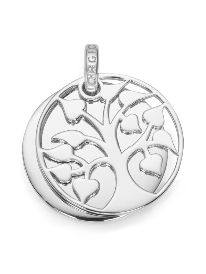 Giorgio Martello Anhänger Lebensbaum mit Gravurplatte, Silber 925, Silber