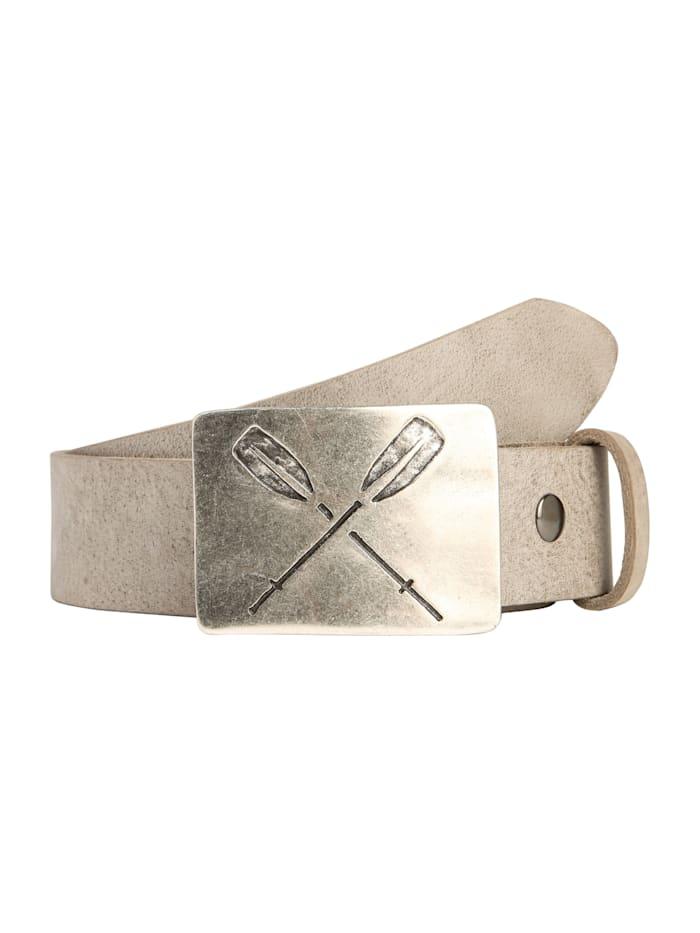 RETTUNGSRING by Showroom 019° Echtledergürtel mit austauschbarer Paddel-Schließe, ash