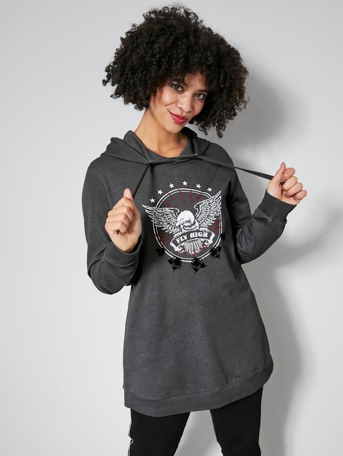 Angel of Style Sweatshirt van zuiver katoen, Antraciet