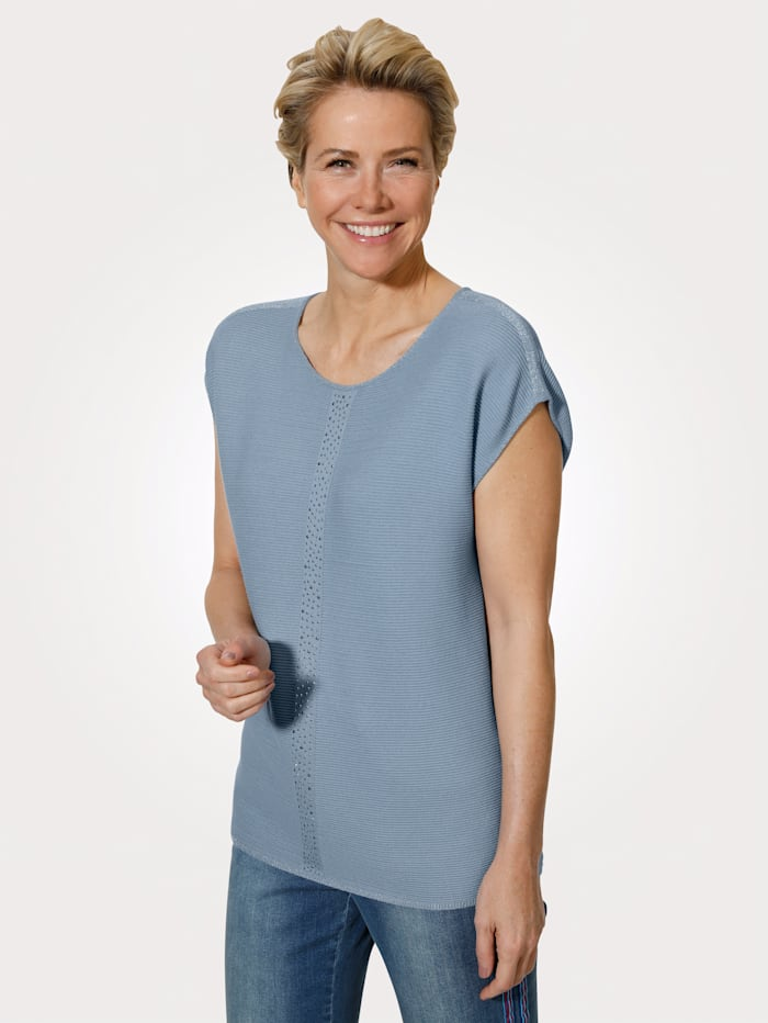 MONA Jumper in a textured finish, Smoke Blue