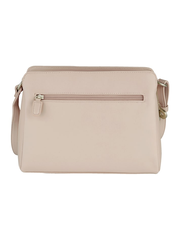 Shoulder bag with zipped compartments