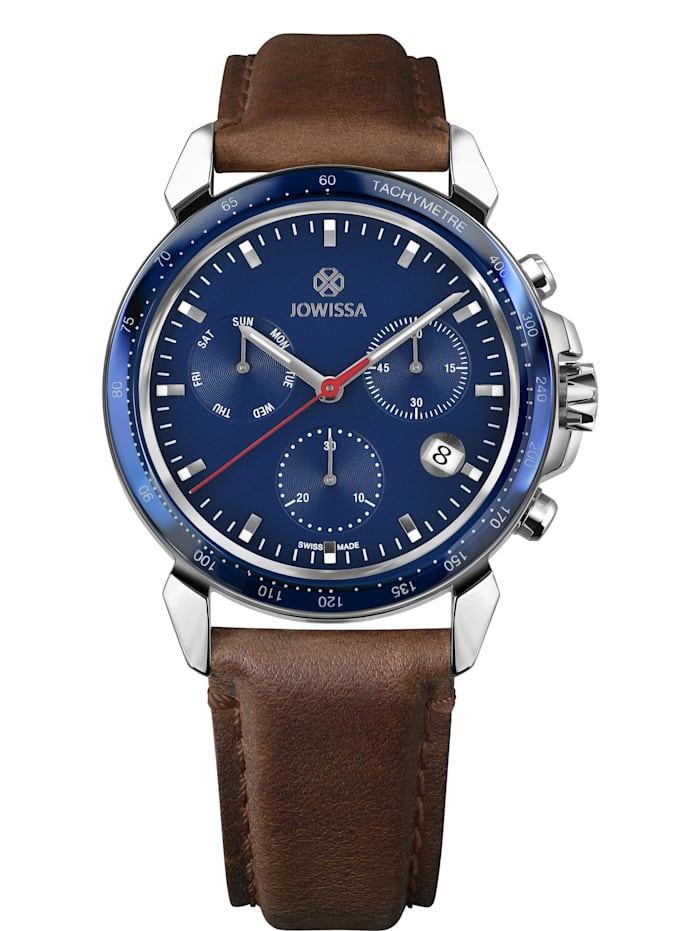 Jowissa Quarzuhr LeWy 9 Swiss Men's Watch, stahlblau