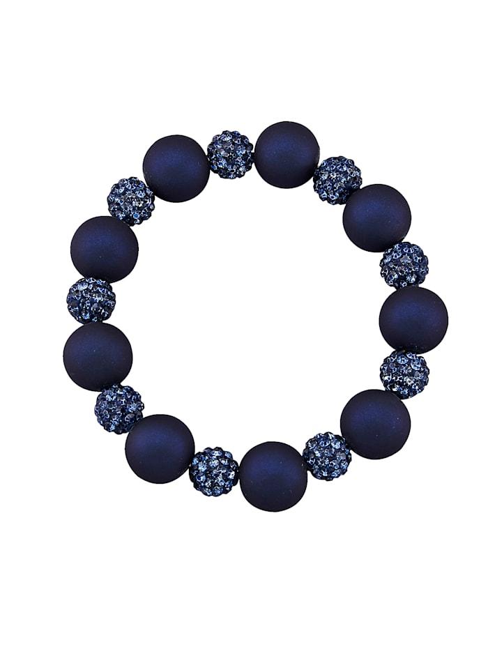 Armband mit Glassteinen, Blau