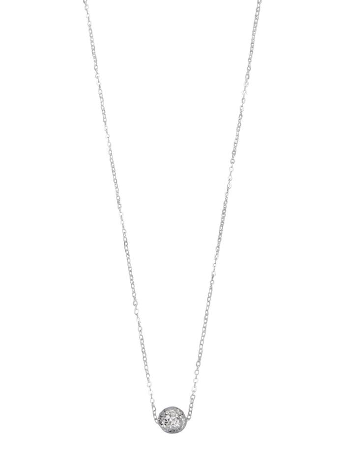 KLiNGEL Collier in Weißgold 750, Weiß
