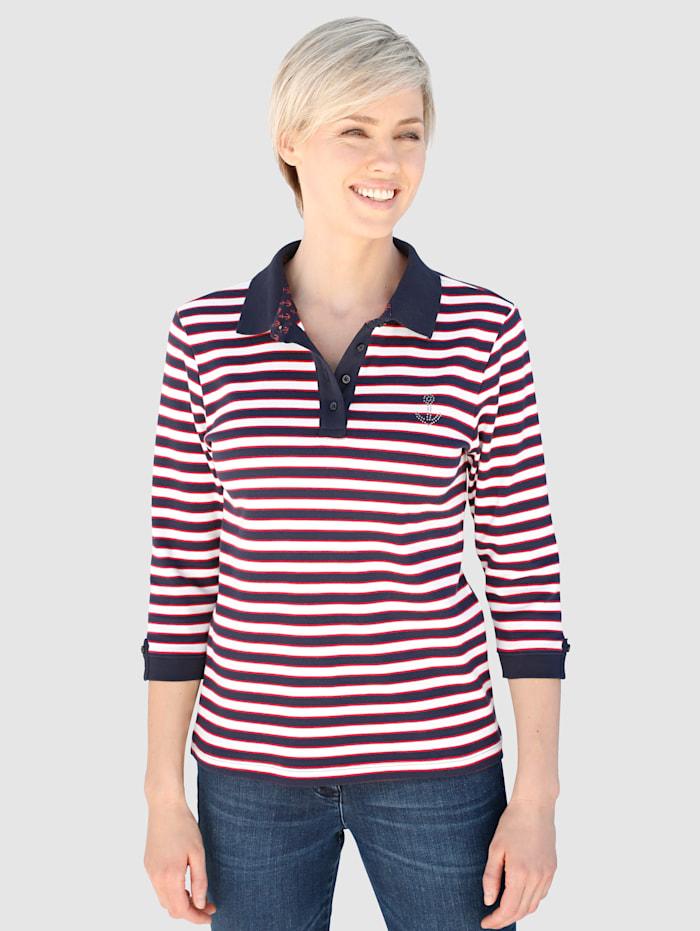 Dress In Polo d'aspect rayé, Marine