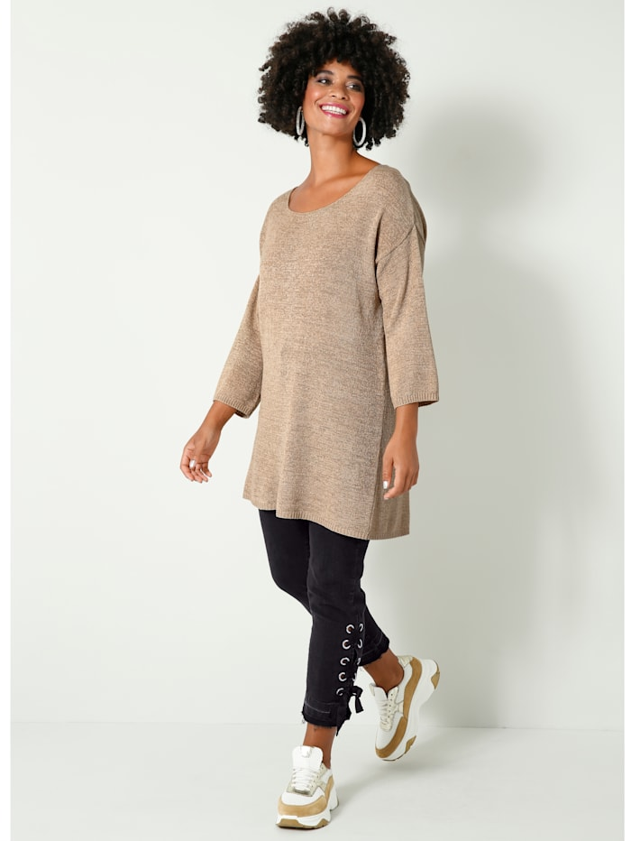 Angel of Style Pull-over en grosse maille, Sable