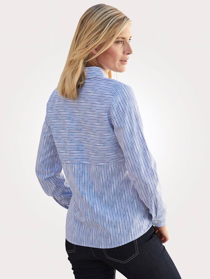 Blouse in a striped design