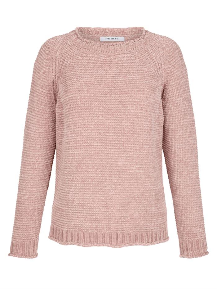 Pullover aus Chenille-Garn