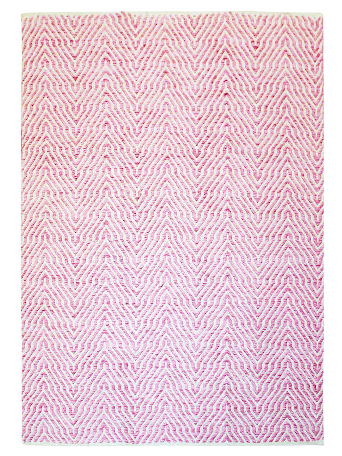 Kayoom Wollteppich Carsten, Pink