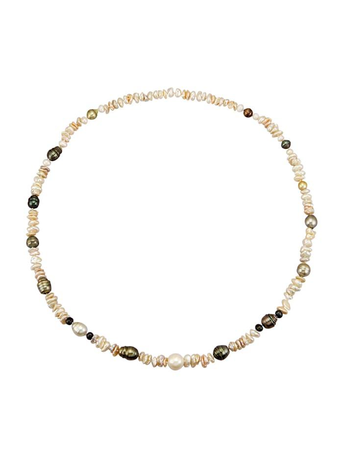Collier mit Perlen, Multicolor