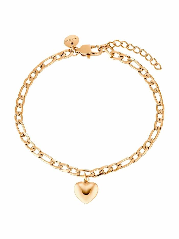 Noelani Armband für Damen, Stainless Steel IP Gold, Herz, Gold