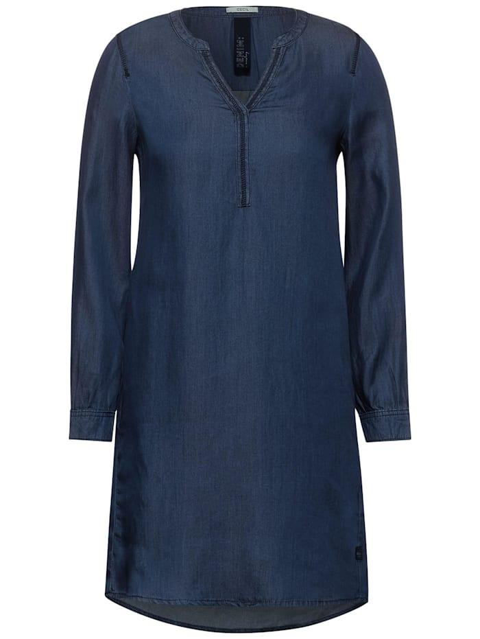 Cecil Kleid im Denim-Look, mid blue used wash