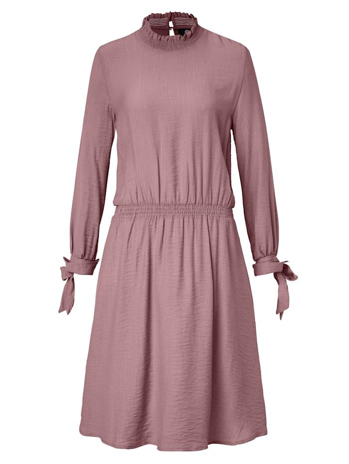 SIENNA Kleid mit Stehkragen, Altrosa