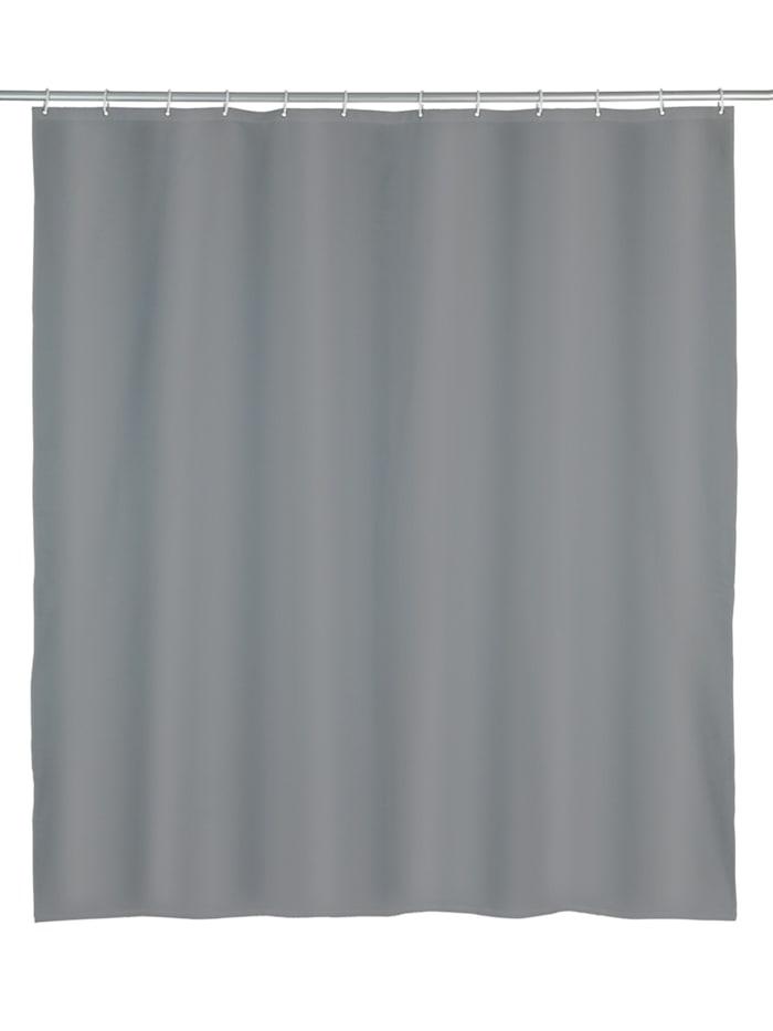 Wenko Duschvorhang Punto Grau, Textil (Polyester), 180 x 200 cm, waschbar, Grau