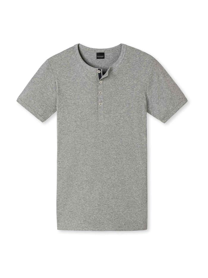 Schiesser Shirt Halbarm, grau meliert