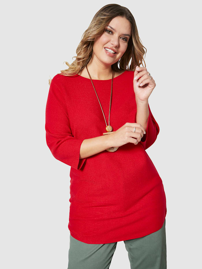 Janet & Joyce Pull-over en maille douce, Rouge