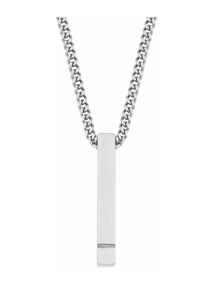 s.Oliver Ketten mit Anhänger für Herren, Edelstahl, 60 cm, Silber