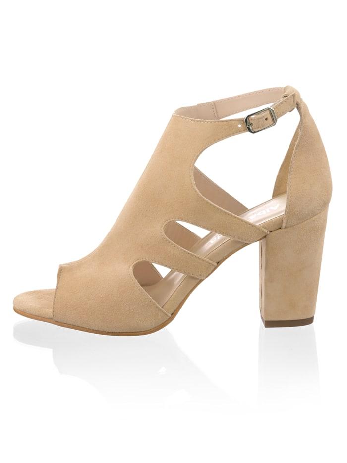 Sandalette mit seitlichen Cutouts