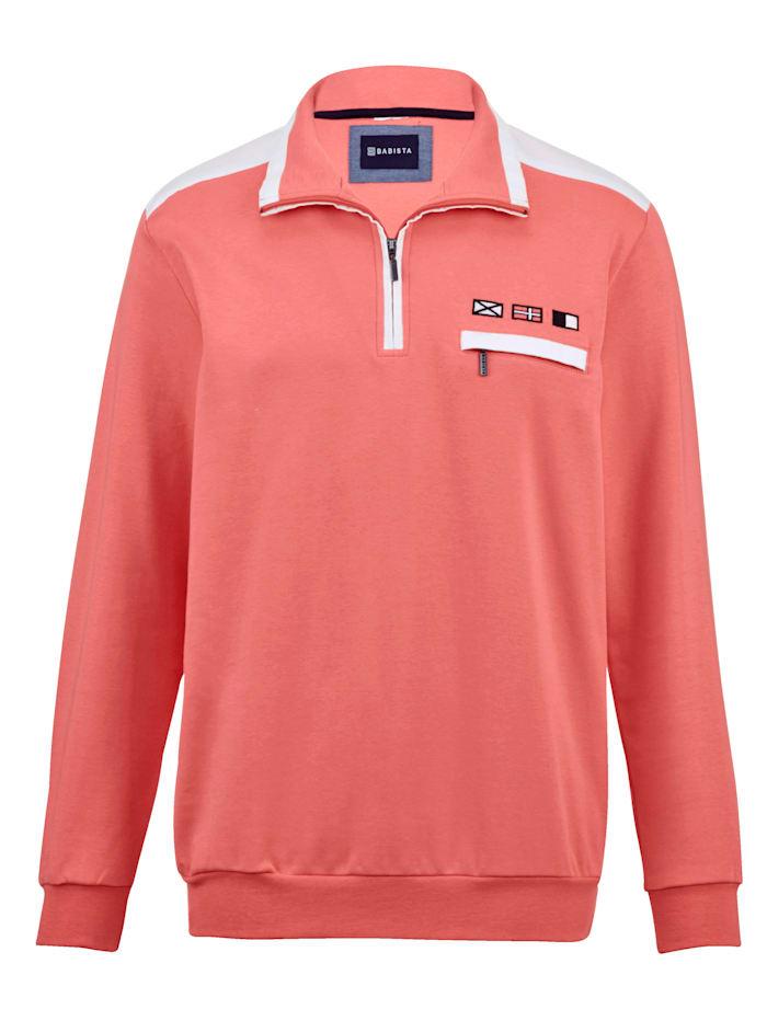 BABISTA Sweatshirt in zomerse kleuren, Koraal
