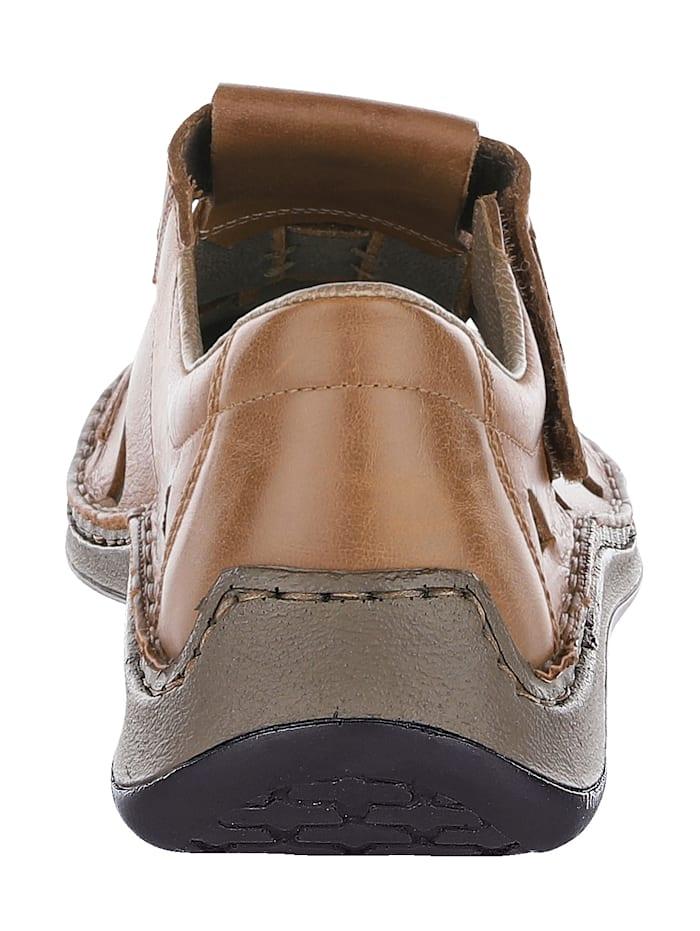 Sandale mit sommerlich luftigen Durchbrüchen