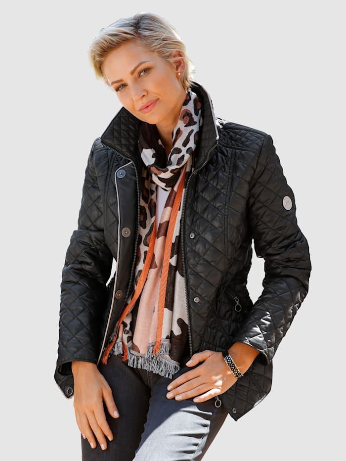 Barbara Lebek Jacka i klassisk, kviltat design, Svart