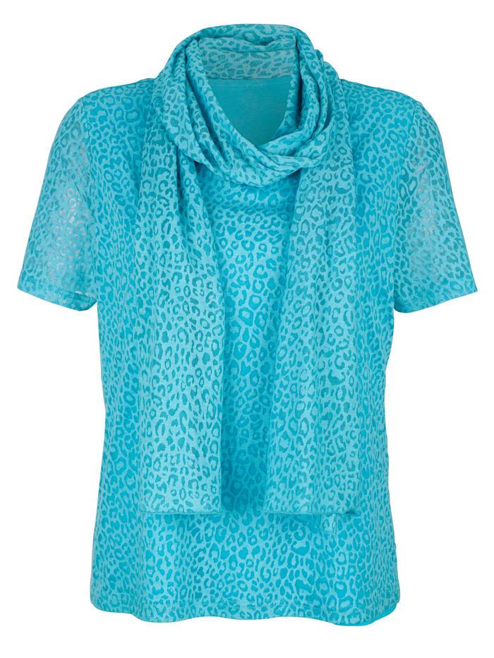 Shirt met sjaal