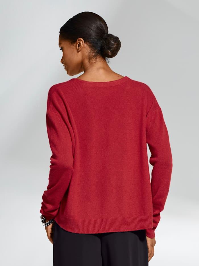 Oversized trui van kasjmier met V-hals