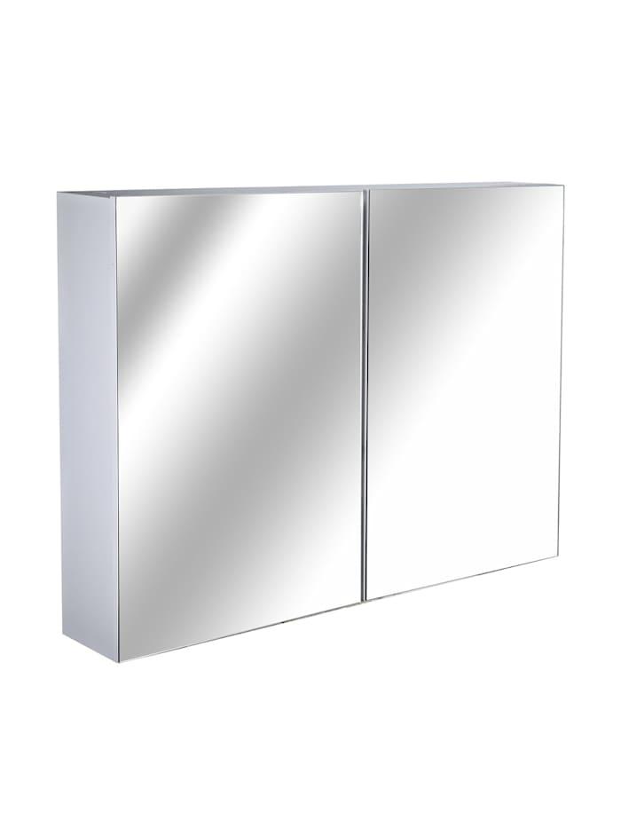 HOMCOM Badspiegelschrank zur Wandmontage, weiß