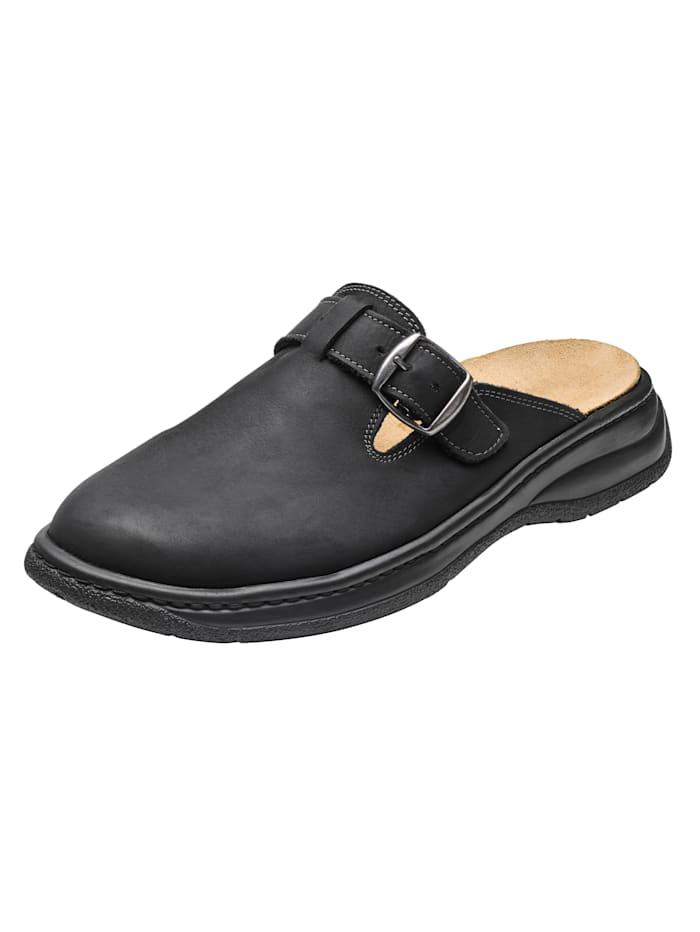 Naturläufer Nazouvací obuv s vyměnitelnou korkovou stélkou, Černá
