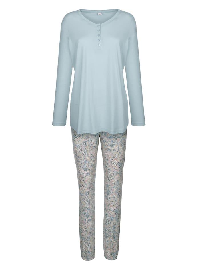 Schlafanzug mit hübschem Floral-Druck
