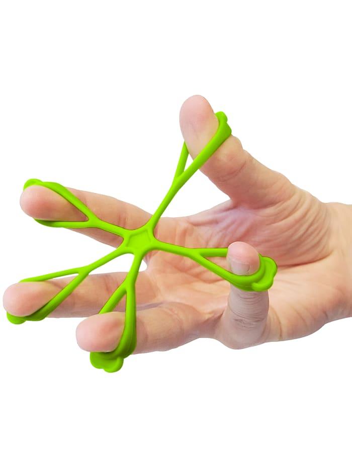 Hand- en vingertrainer, groen/zwart