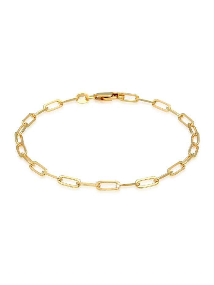 Elli Armband Glieder Oval Basic Chain Optik 925 Silber, Gold