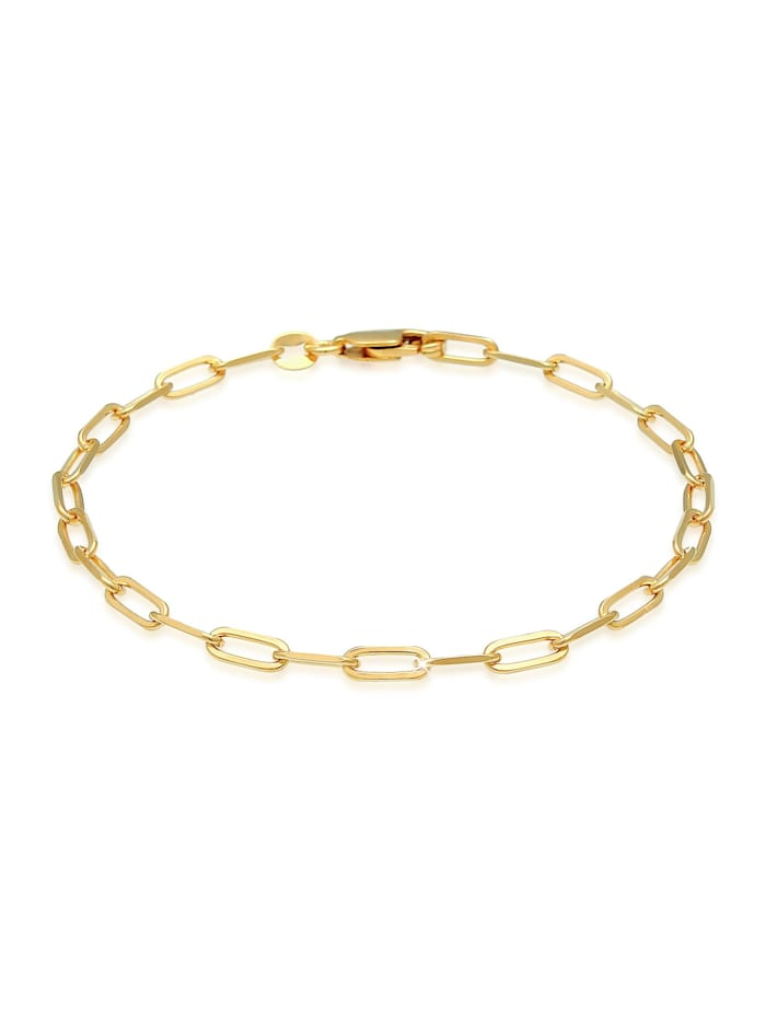 Elli Armband Glieder Oval Basic Chunky Chains Optik 925 Silber, Gold