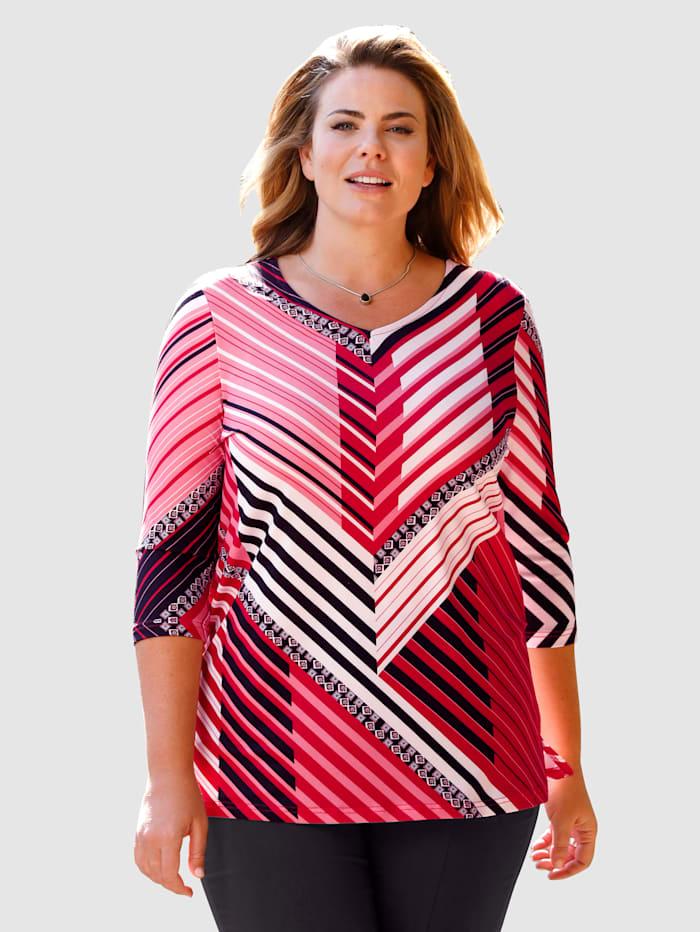 Shirt met geraffineerd streepdessin