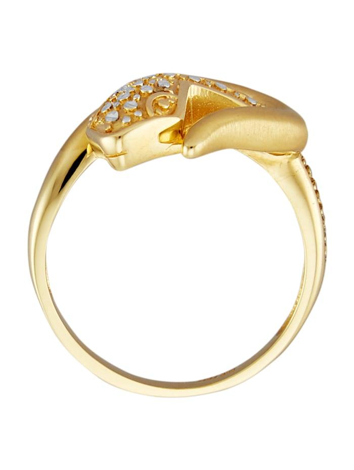 Schlangen-Ring in Gelbgold 585