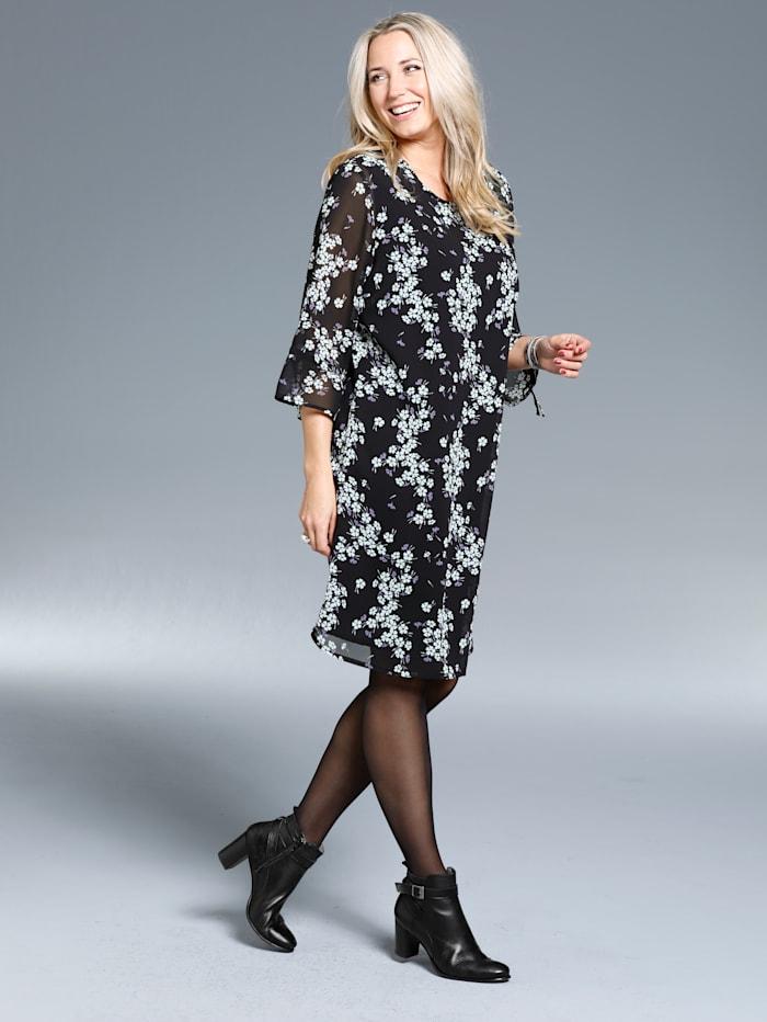 Kleid aus bedrucktem Chiffon