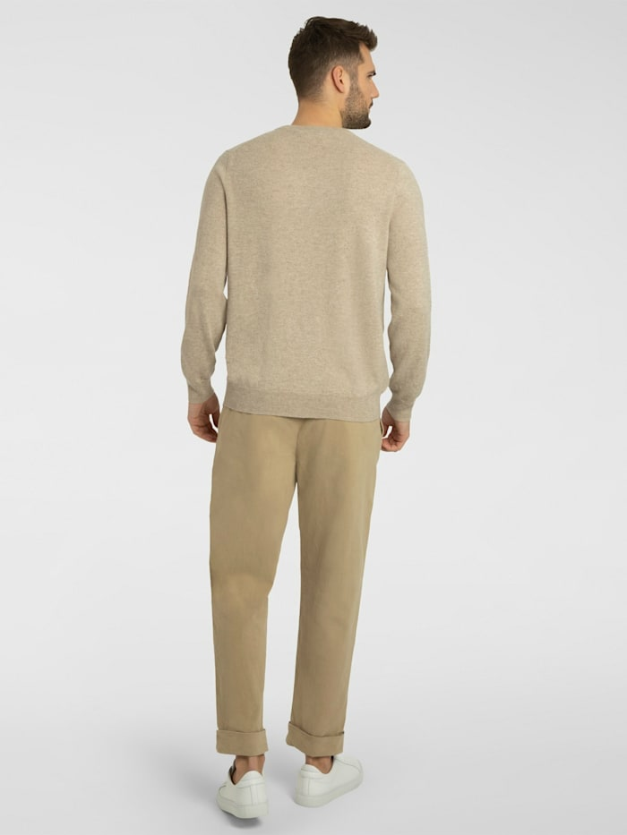 Herrenpullover mit Rundhalsausschnitt aus hochwertigem Cashmere
