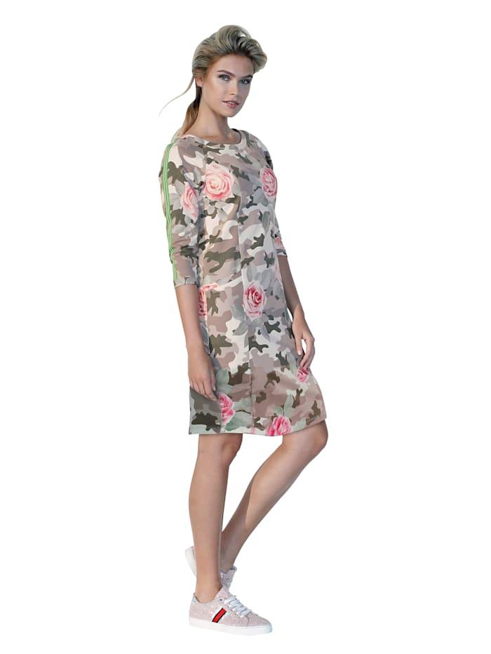 Jerseykleid mit seitlichem Zierband