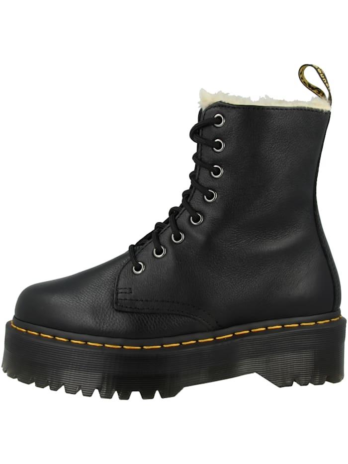 Dr. Martens Boots Jadon Fur Lined Plateau, schwarz