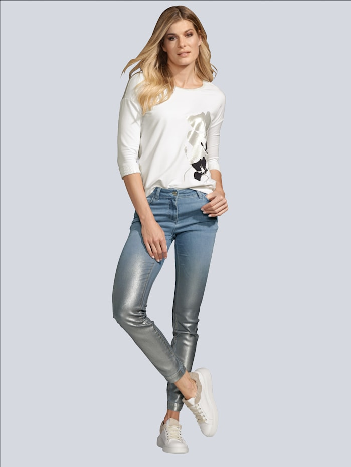 SPORTALM Jeans in besonderer Optik, Jeansblau
