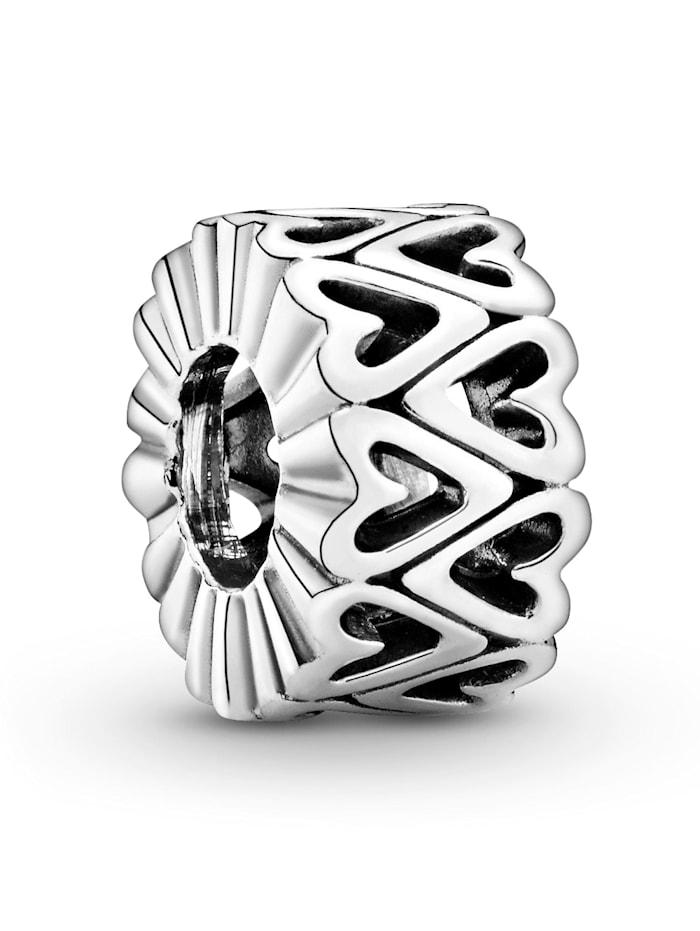 Pandora Charm - Zwischenelement - Offenes Freihand-Herz - 798694C00, Silberfarben