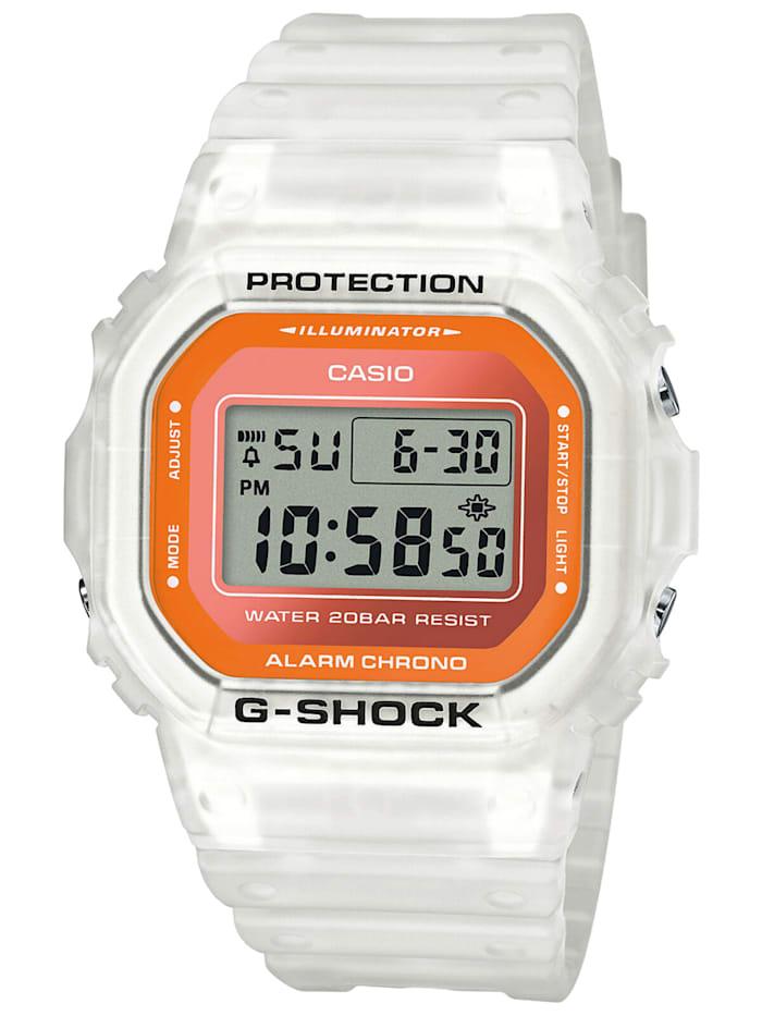 Casio G-Shock Trending Digitaluhr Weiß / Orange, Silberfarben