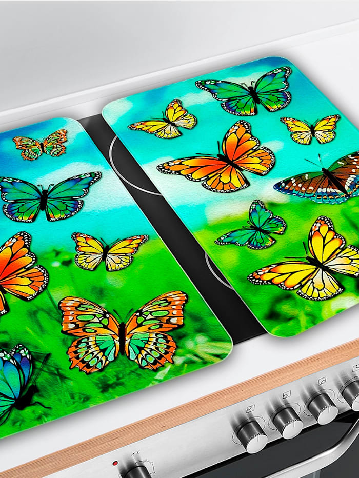 2er-Set Herdabdeckplatten 'Schmetterlinge'
