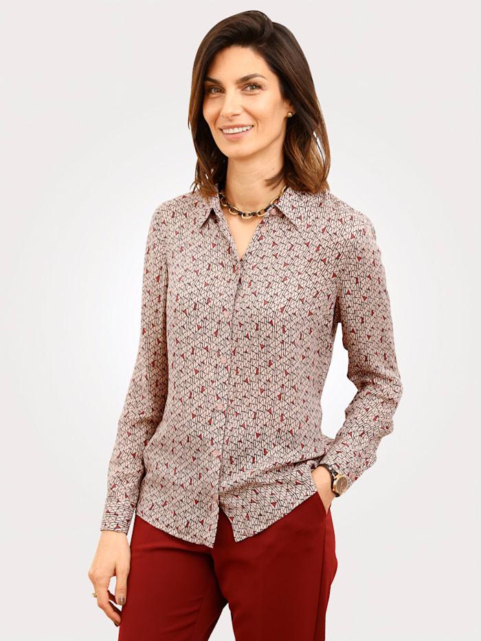MONA Bluse mit Hemdkragen, Rosé/Rot