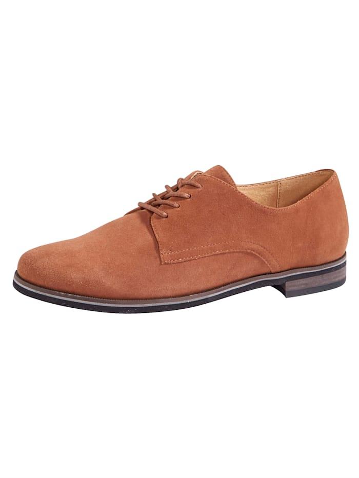 MONA Lace-up shoes in a classic design, Cognac