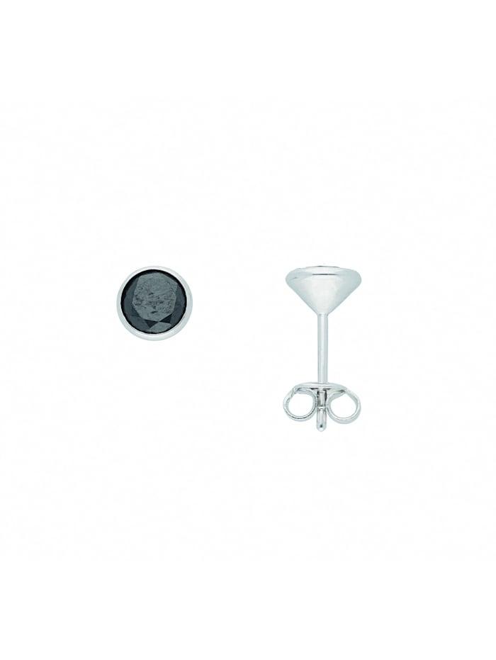1001 Diamonds Damen Silberschmuck 925 Silber Ohrringe / Ohrstecker mit Zirkonia Ø 6,6 mm, bunt