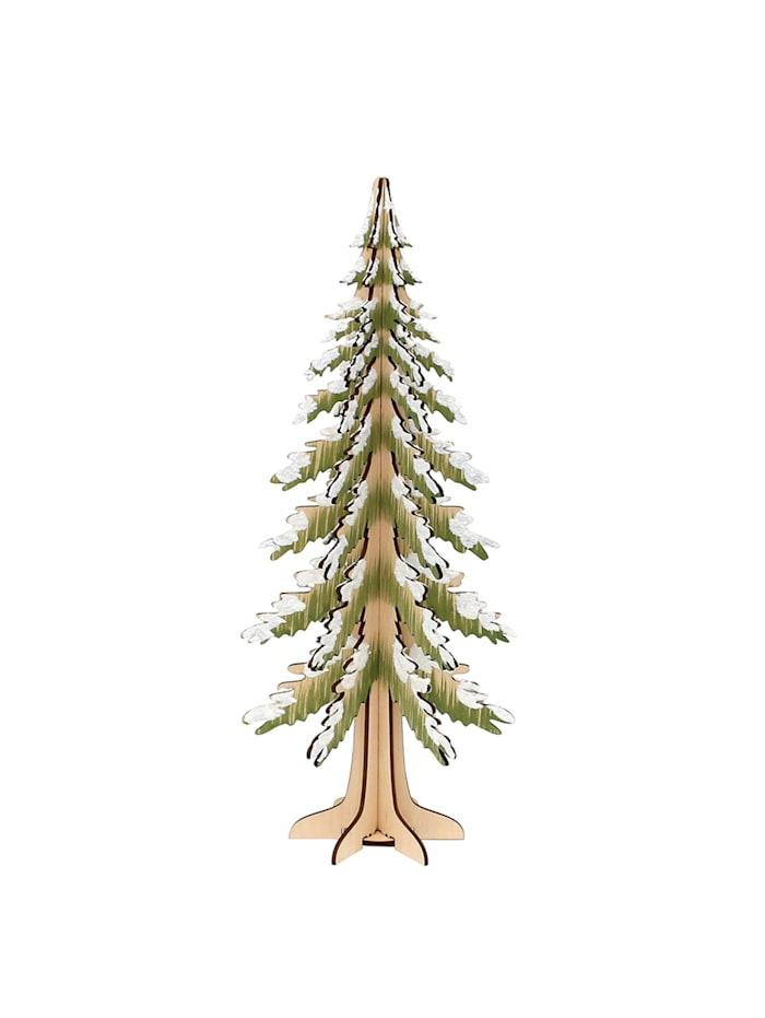 Sigro Holz Deko-Baum beschneit, Natur
