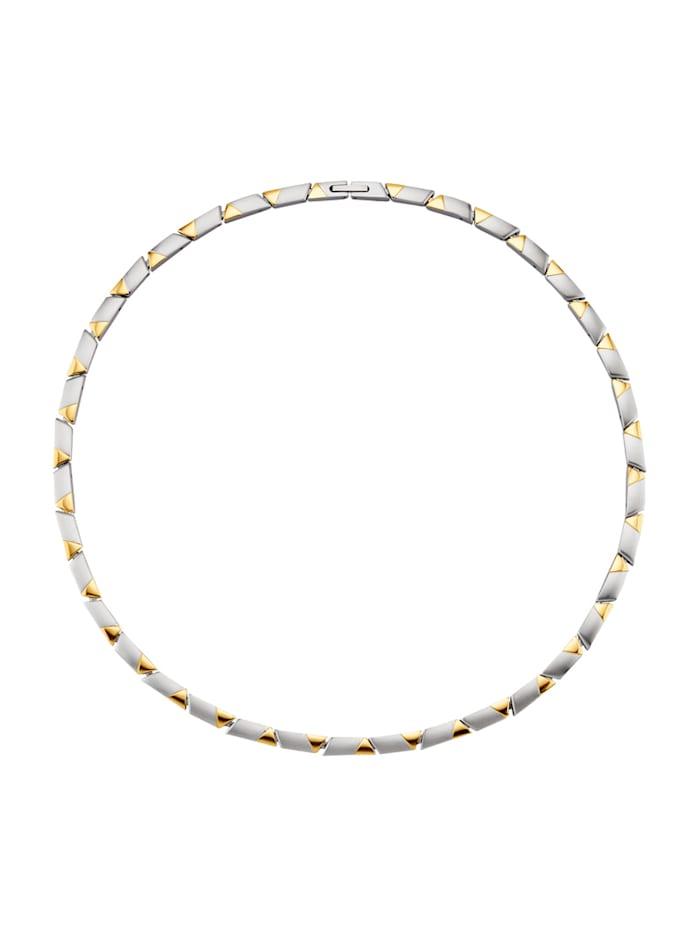 Magnetic Balance Halskette, Edelstahl, Silberfarben