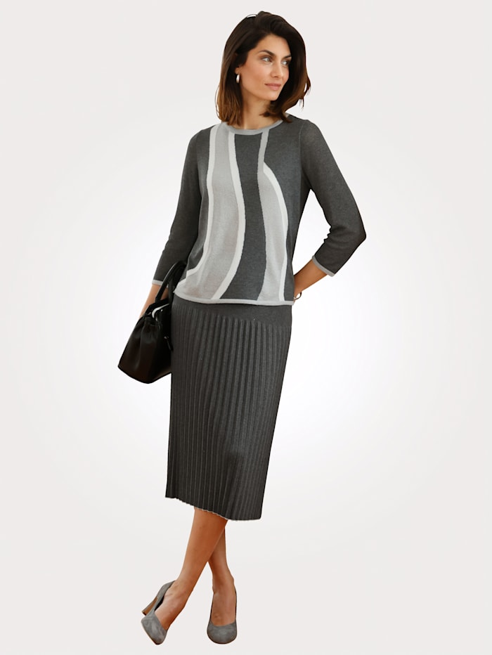 Pull-over en maille intarsia